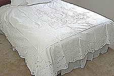 cotton bed coverlet, embroidery bed coverlets.